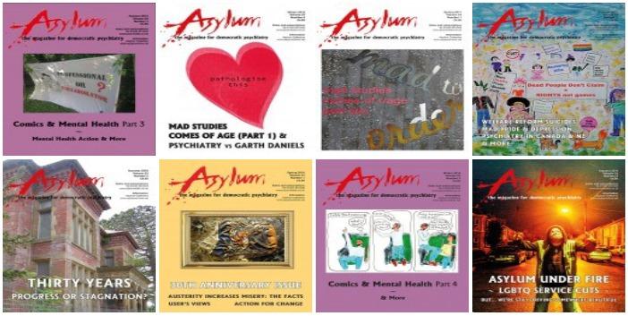 Asylum magazine front cover imageAsylum magazine front cover image