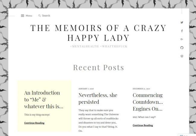 crazy happy lady