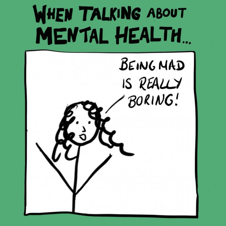 When talking about mental health